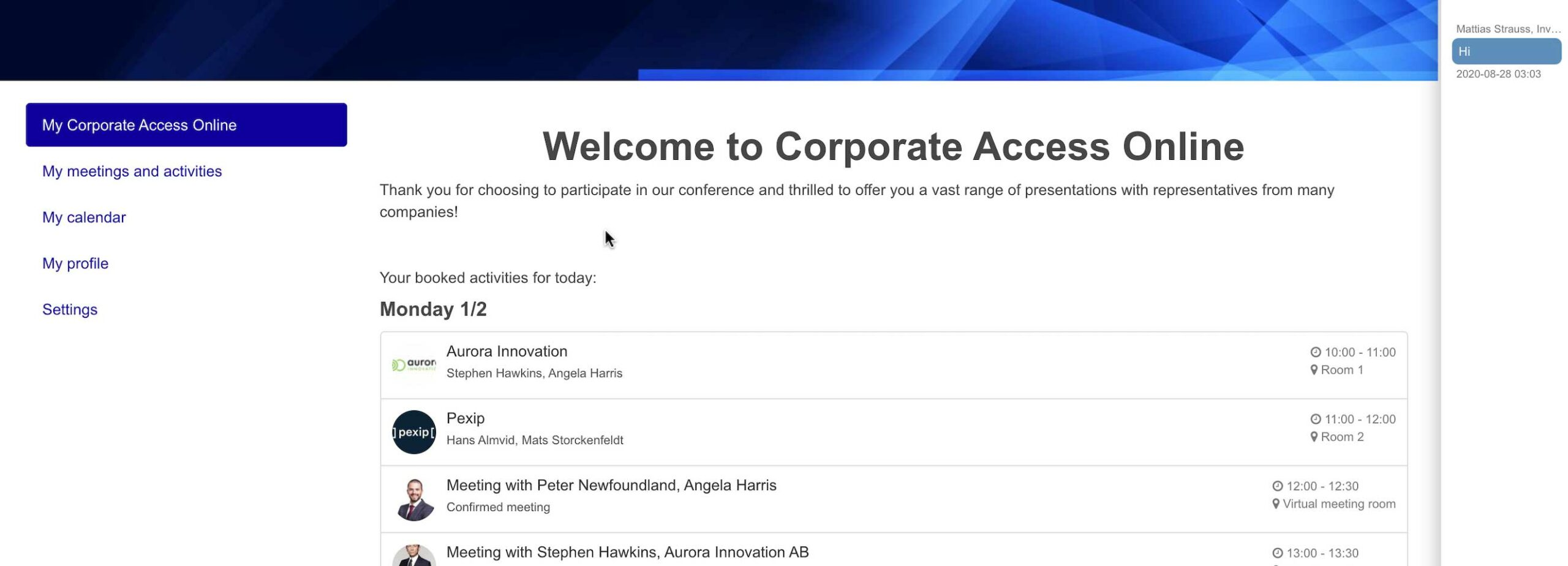Corporate Access Conferences